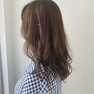 ママヘア ナチュラル 透明感 セミロング ヘアスタイルや髪型の写真・画像