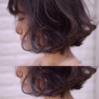 アンニュイほつれヘア デート ヘアアレンジ ボブ ヘアスタイルや髪型の写真・画像