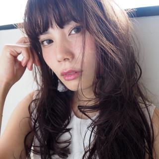 外国人風 ナチュラル ピュア 黒髪 ヘアスタイルや髪型の写真・画像