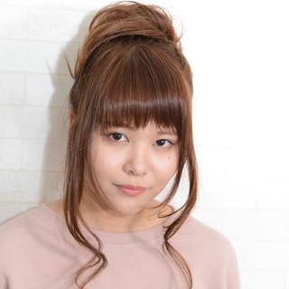 ゆるふわ 簡単ヘアアレンジ ルーズ ヘアアレンジ ヘアスタイルや髪型の写真・画像