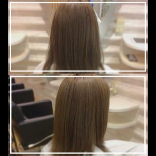 セミロング ナチュラル 髪質改善カラー 艶髪 ヘアスタイルや髪型の写真・画像