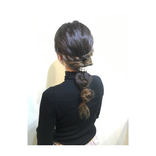 ショート ヘアアレンジ セミロング ブルージュ ヘアスタイルや髪型の写真・画像