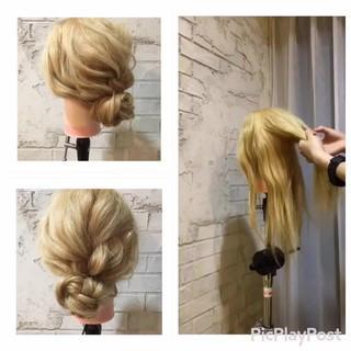 セミロング ガーリー 外国人風 パーティ ヘアスタイルや髪型の写真・画像