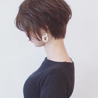 フェミニン 色気 透明感 ショートボブ ヘアスタイルや髪型の写真・画像