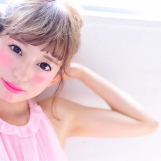 ヘアアレンジ フェミニン 色気 ボブ ヘアスタイルや髪型の写真・画像