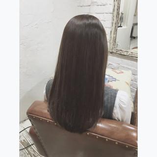 アッシュ ナチュラル 暗髪 グラデーションカラー ヘアスタイルや髪型の写真・画像