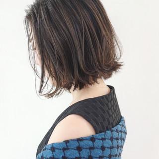 ボブ 女子力 ナチュラル 切りっぱなし ヘアスタイルや髪型の写真・画像 ヘアスタイルや髪型の写真・画像