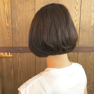 暗髪 ダークアッシュ ボブ アッシュ ヘアスタイルや髪型の写真・画像