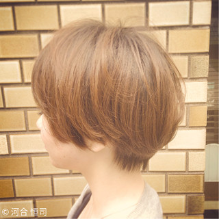 ゆるふわ ショート 外国人風 大人かわいい ヘアスタイルや髪型の写真・画像