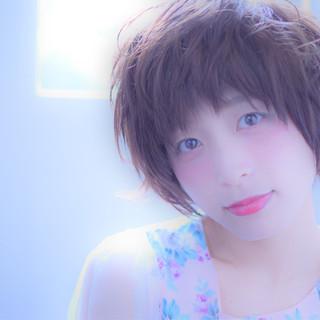 透明感 外国人風カラー フェミニン アッシュ ヘアスタイルや髪型の写真・画像