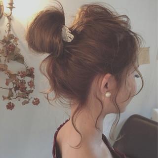 ショート 夏 ヘアアレンジ セミロング ヘアスタイルや髪型の写真・画像