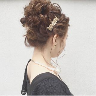 セミロング ガーリー 結婚式 渋谷系 ヘアスタイルや髪型の写真・画像
