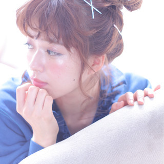大人女子 ヘアピン ショート 簡単ヘアアレンジ ヘアスタイルや髪型の写真・画像