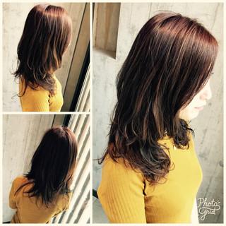 おフェロ 透明感 秋 ミディアム ヘアスタイルや髪型の写真・画像