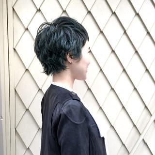 ショート パーマ ストリート ウルフカット ヘアスタイルや髪型の写真・画像 ヘアスタイルや髪型の写真・画像