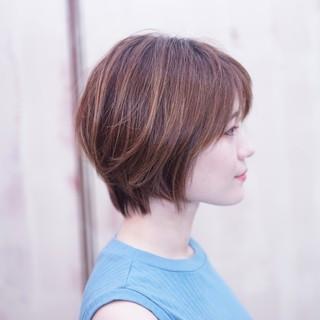 かわいい ショート ショートバング ショートボブ ヘアスタイルや髪型の写真・画像