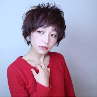 フェミニン 小顔 ショート 似合わせ ヘアスタイルや髪型の写真・画像