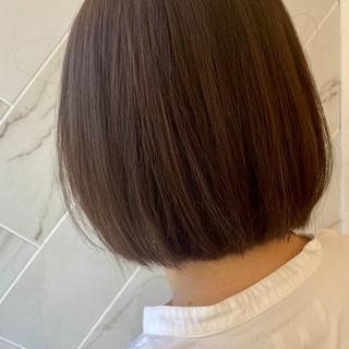 ボブ ミニボブ 髪質改善 イルミナカラー ヘアスタイルや髪型の写真・画像