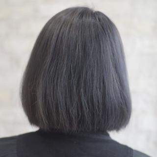 ボブ ネイビーブルー モード オフィス ヘアスタイルや髪型の写真・画像