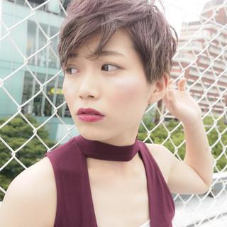 フェミニン ショート 大人かわいい 似合わせ ヘアスタイルや髪型の写真・画像