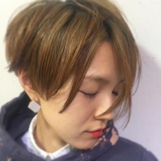 簡単 暗髪 ショート 外国人風 ヘアスタイルや髪型の写真・画像