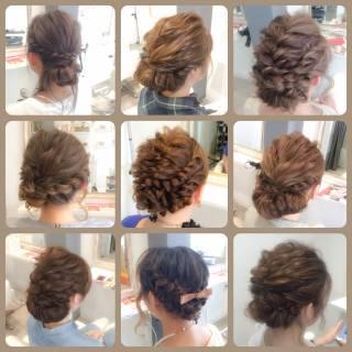 結婚式 ショート パーティ セミロング ヘアスタイルや髪型の写真・画像