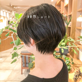 ショートヘア 抜け感 ラフ ショート ヘアスタイルや髪型の写真・画像