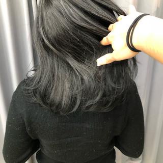 暗髪 グレージュ ナチュラル 就活 ヘアスタイルや髪型の写真・画像