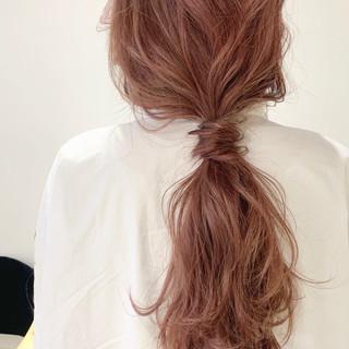 セルフアレンジ ヘアアレンジ ナチュラル ポニーテールアレンジ ヘアスタイルや髪型の写真・画像