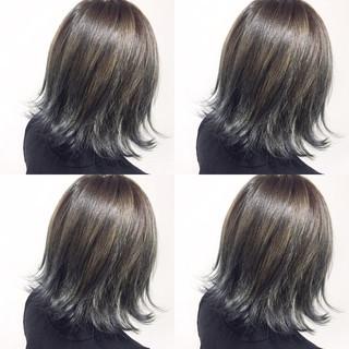 ミディアム アッシュ 外国人風 ブルージュ ヘアスタイルや髪型の写真・画像