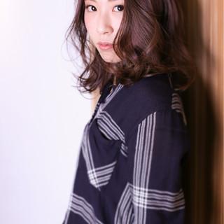 冬 色気 暗髪 ナチュラル ヘアスタイルや髪型の写真・画像
