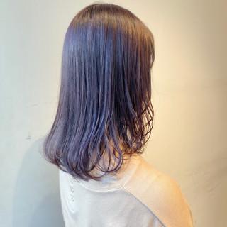 ピンクラベンダー ピンクブラウン 透明感カラー ブリーチなし ヘアスタイルや髪型の写真・画像
