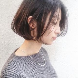 ボブ 抜け感 大人かわいい 外国人風 ヘアスタイルや髪型の写真・画像