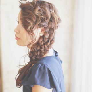 ヘアアレンジ ロング 外国人風 ハーフアップ ヘアスタイルや髪型の写真・画像