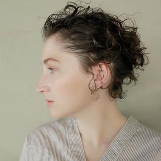 くせ毛風 外国人風 ヘアアレンジ ナチュラル ヘアスタイルや髪型の写真・画像