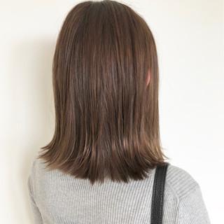 インナーカラー ナチュラル ハイライト ミディアム ヘアスタイルや髪型の写真・画像