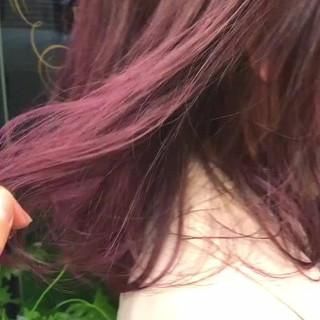 ピンク パープル ストリート グラデーションカラー ヘアスタイルや髪型の写真・画像