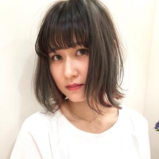 涼しげ アウトドア ミディアム ヘアアレンジ ヘアスタイルや髪型の写真・画像