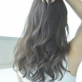 ハイライト ガーリー 外国人風カラー グレージュ ヘアスタイルや髪型の写真・画像