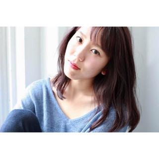 ミディアム リラックス 秋 ピンク ヘアスタイルや髪型の写真・画像