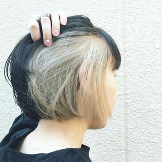 インナーカラー ストリート ボブ 外国人風 ヘアスタイルや髪型の写真・画像