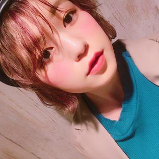 ガーリー 簡単ヘアアレンジ ハイトーン 透明感 ヘアスタイルや髪型の写真・画像