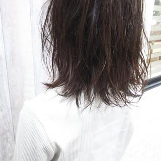 ガーリー ヘアカラー セミロング ダブルカラー ヘアスタイルや髪型の写真・画像