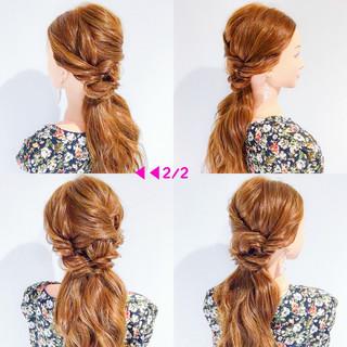 ロング フェミニン 結婚式 デート ヘアスタイルや髪型の写真・画像