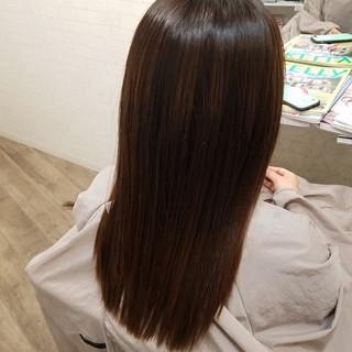 縮毛矯正名古屋市 艶髪 縮毛矯正ストカール ロング ヘアスタイルや髪型の写真・画像