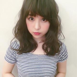 ミディアム 小顔 こなれ感 女子会 ヘアスタイルや髪型の写真・画像
