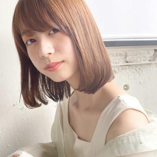 縮毛矯正ストカール ミディアムレイヤー ロブ 縮毛矯正 ヘアスタイルや髪型の写真・画像