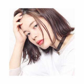 モード アッシュ 外国人風 ボブ ヘアスタイルや髪型の写真・画像