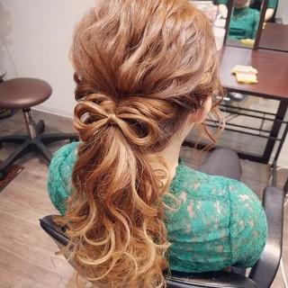 ポニーテール ヘアアレンジ ロング ガーリー ヘアスタイルや髪型の写真・画像 ヘアスタイルや髪型の写真・画像