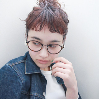 ショート ストリート 簡単ヘアアレンジ ボブ ヘアスタイルや髪型の写真・画像 ヘアスタイルや髪型の写真・画像